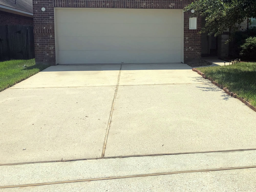 Cleaned Driveway