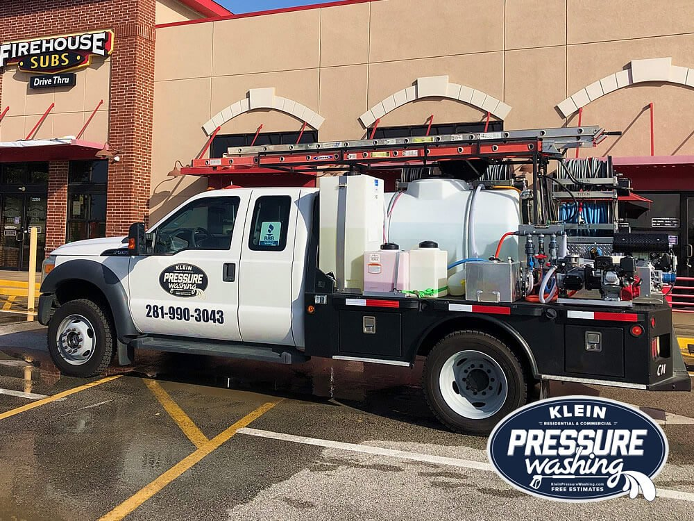 Commercial Pressure Washing Flatbed